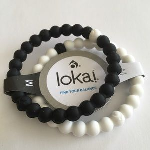 NEW 2 Black & White Lokai Bracelets All Sizes!